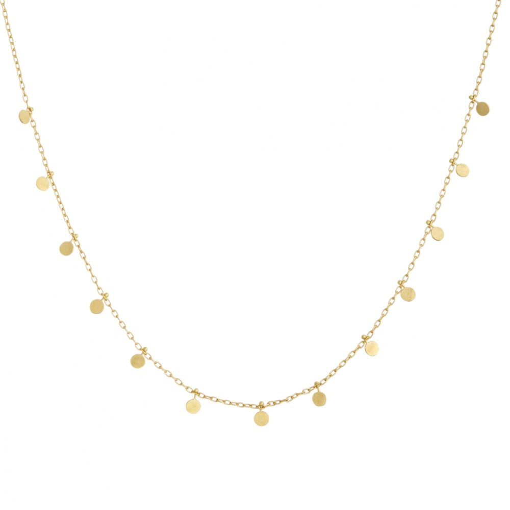 Sia Taylor DN25 Y Little Yellow Gold Dots Necklace WB