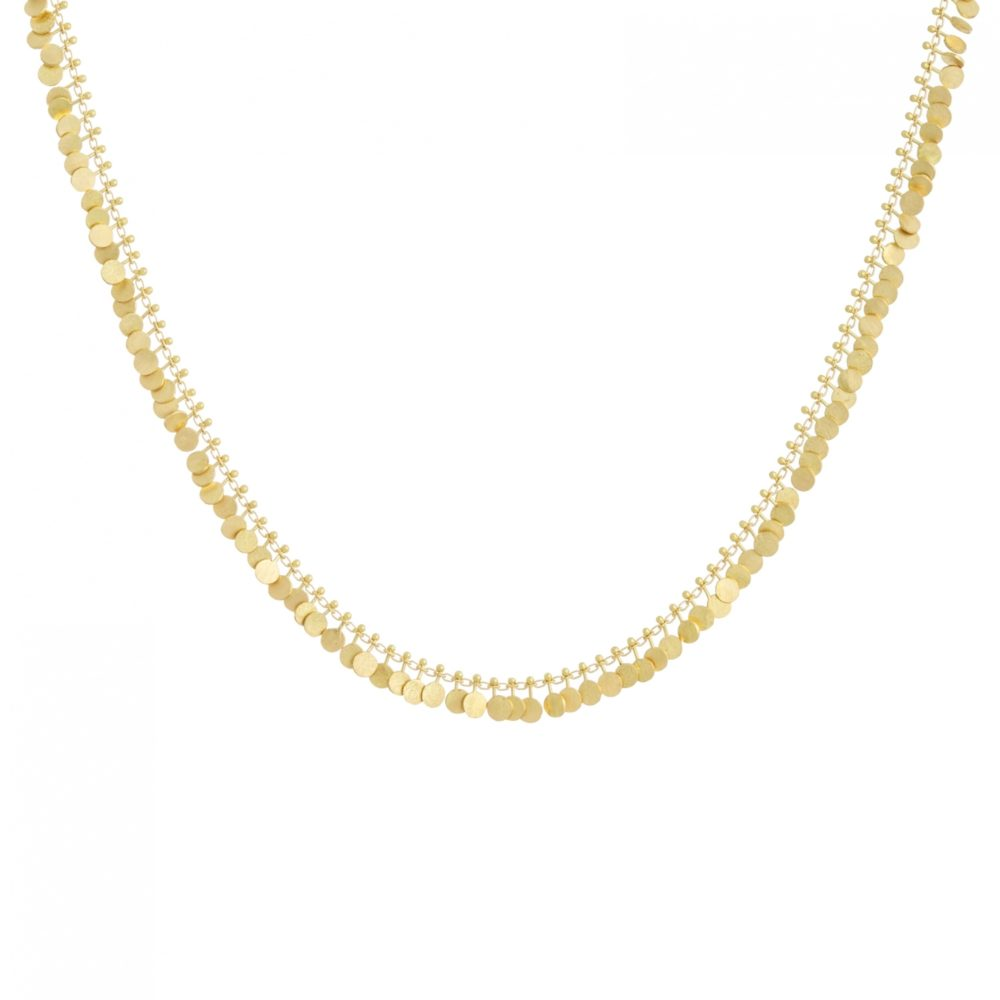 Sia Taylor DN300 Y Full Yellow Gold Dot Necklace WB