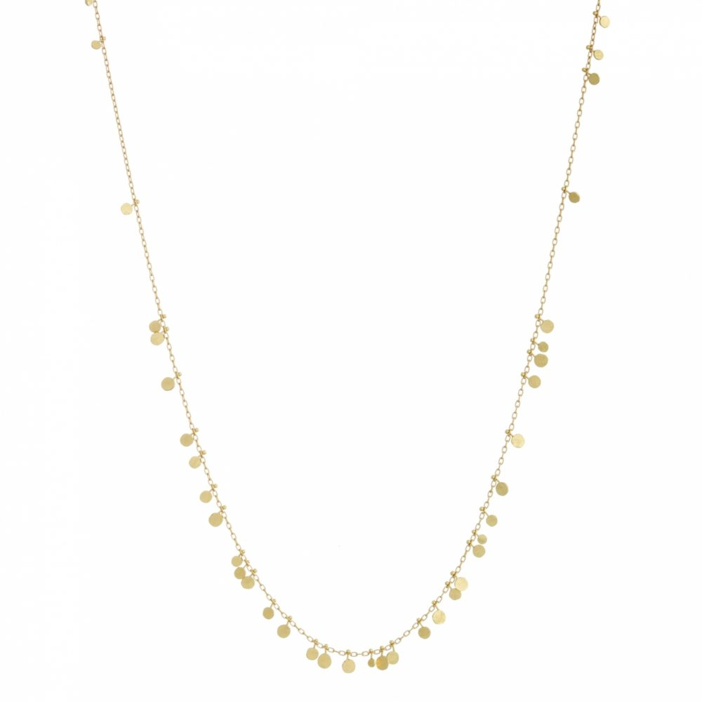 Sia Taylor DN32 Y Long Random Yellow Gold Dots Necklace WB
