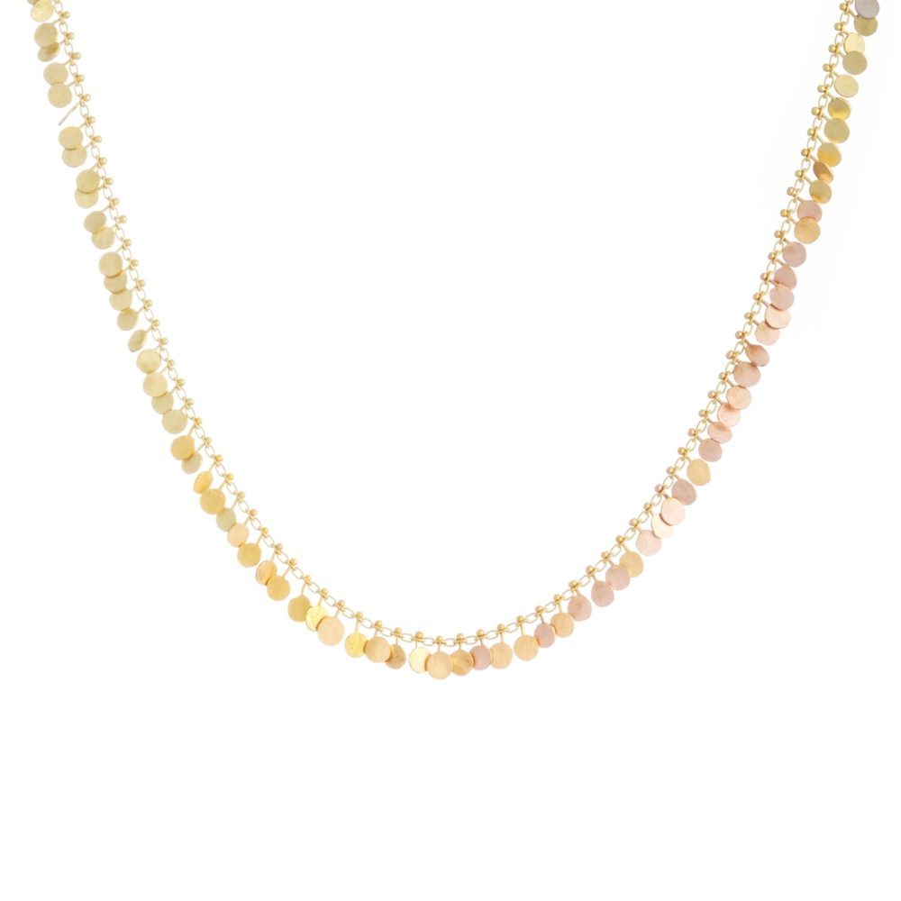 Sia Taylor DN350 YRAIN Rainbow Gold Fully Dotted Necklace WB