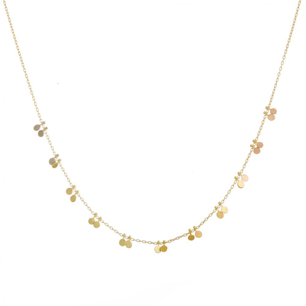 Sia Taylor DN358 RAIN Rainbow Little Dots Necklace WB