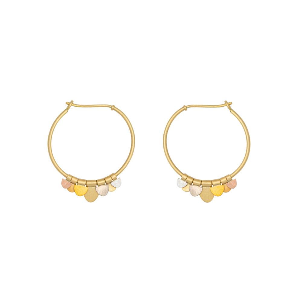 Sia Taylor FE9 RAIN Rainbow Gold Earrings WB