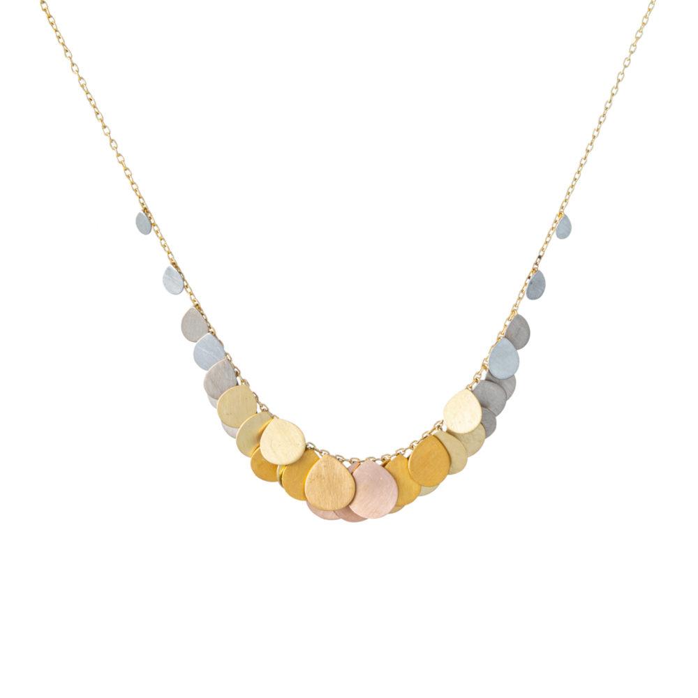 Sia Taylor FN2 RAIN Rainbow Gold Necklace WB
