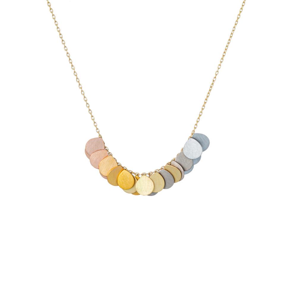 Sia Taylor FN3 RAIN Rainbow Gold Necklace WB