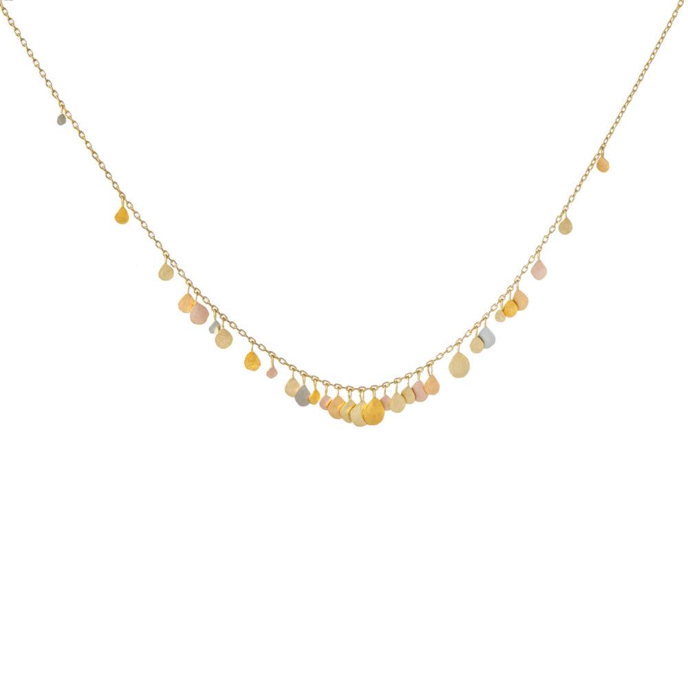 Sia Taylor FN9 RAIN Rainbow Gold Necklace WB