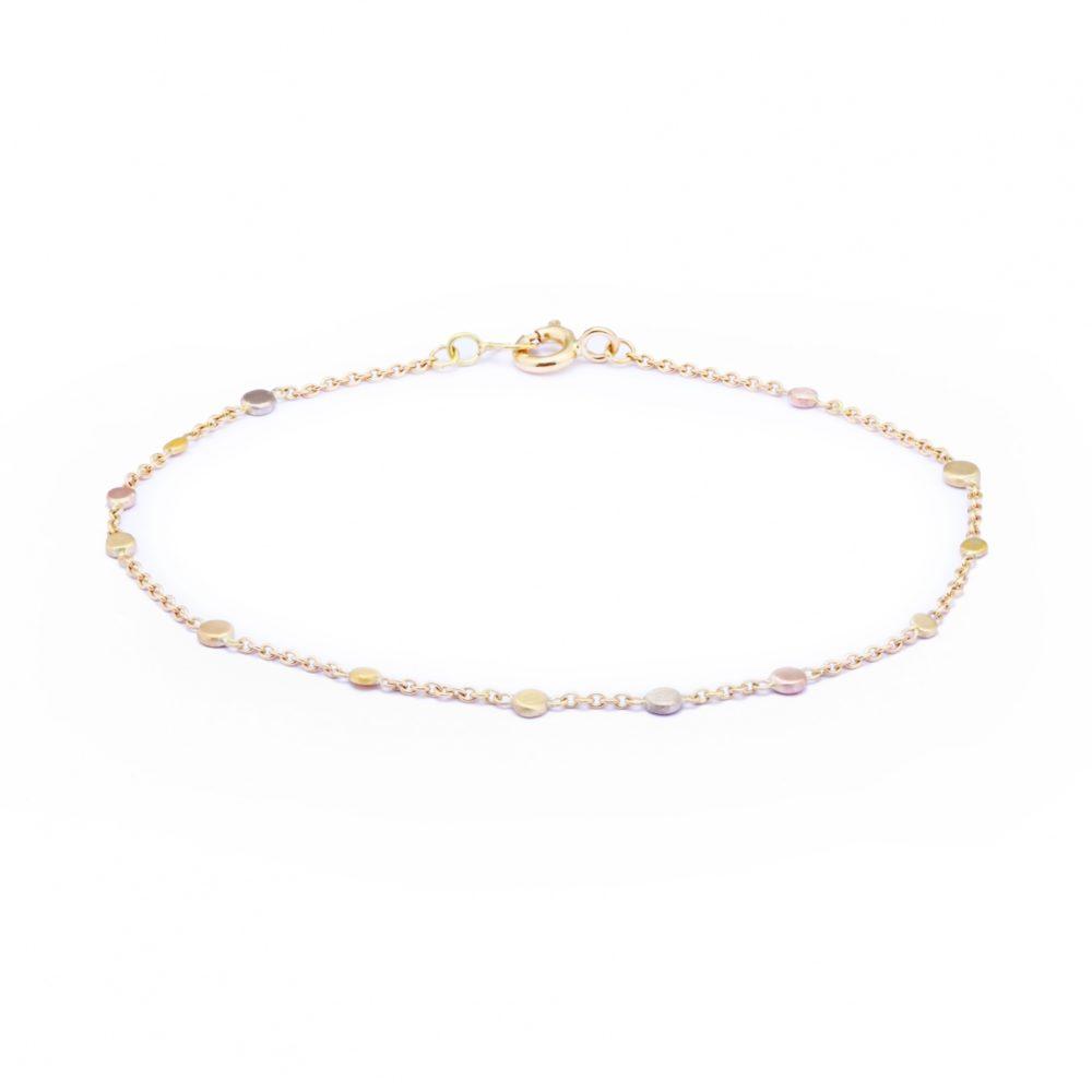 Sia Taylor KB4 RAIN Scattered Rainbow Gold Dots Bracelet