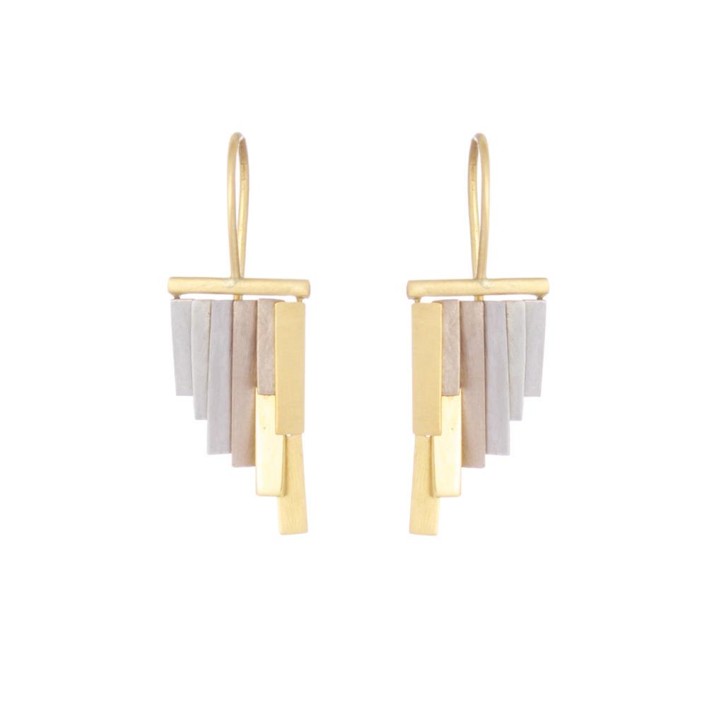 Sia Taylor KE33 YWP Gold Platinum Tiny Rainfall Earrings W