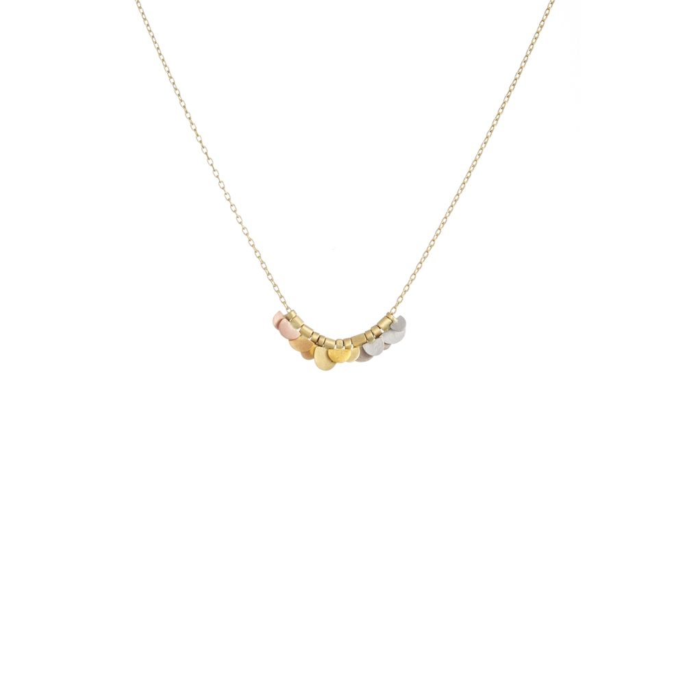 Sia Taylor KN14 YRAIN Rainbow Golds Tiny Flora Necklace WB