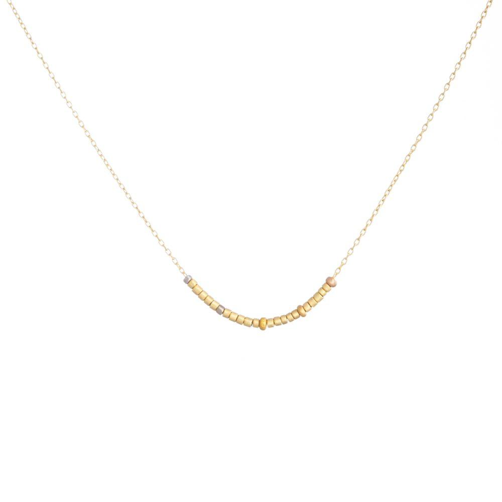 Sia Taylor KN17 RAIN Tiny Golden Bead Necklace WB