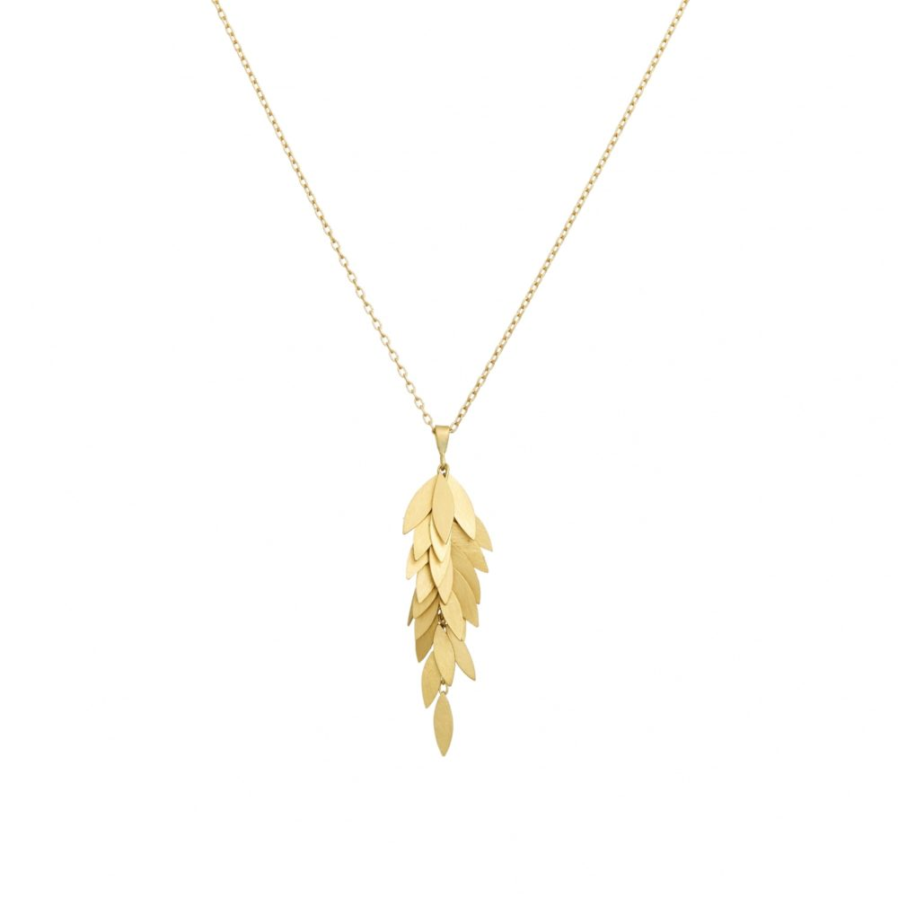 Sia Taylor KN23 Y Yellow Gold Golden Leaf Cluster WB