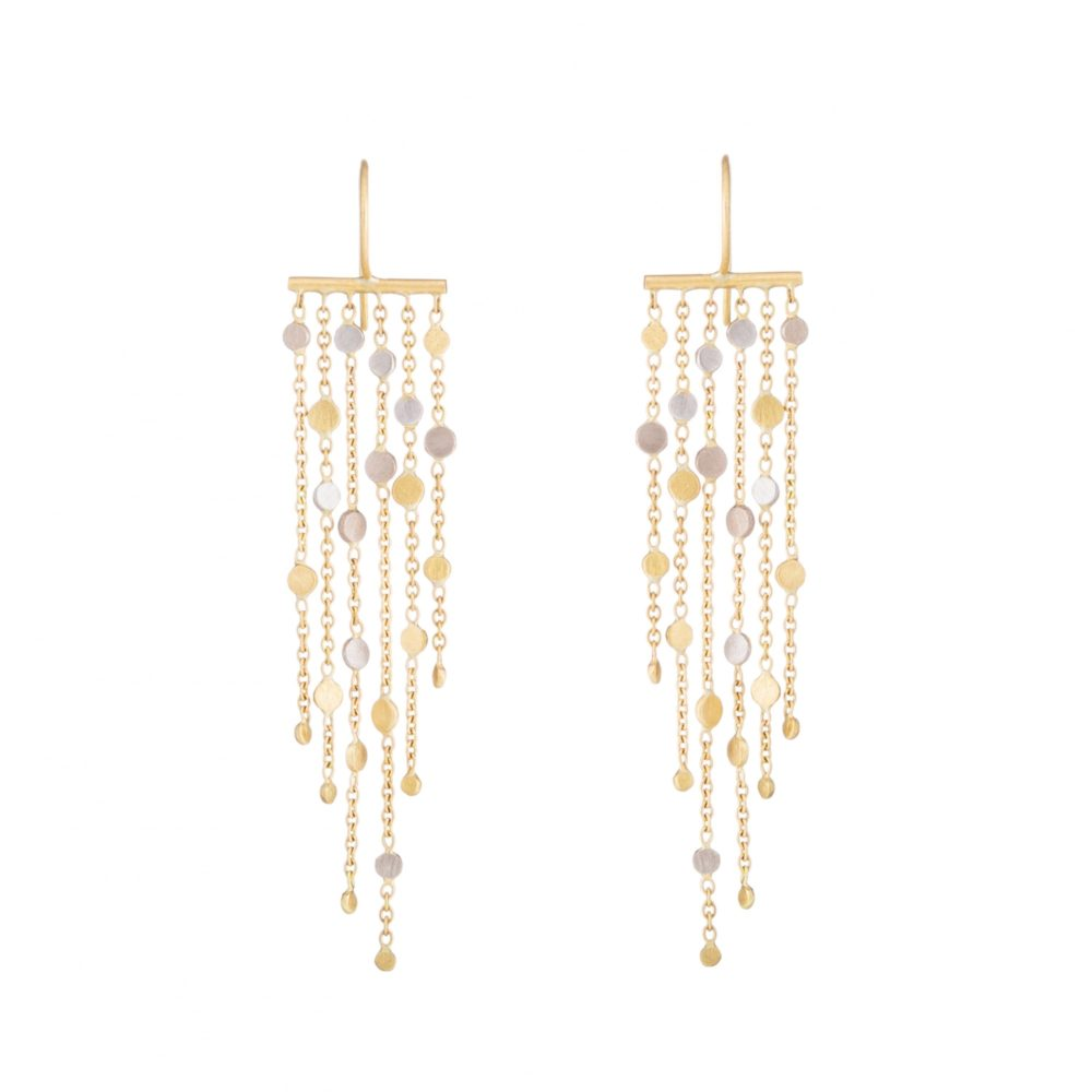 Sia Taylor SE2 YWP Gold Platinum Falling Dust Earring WB