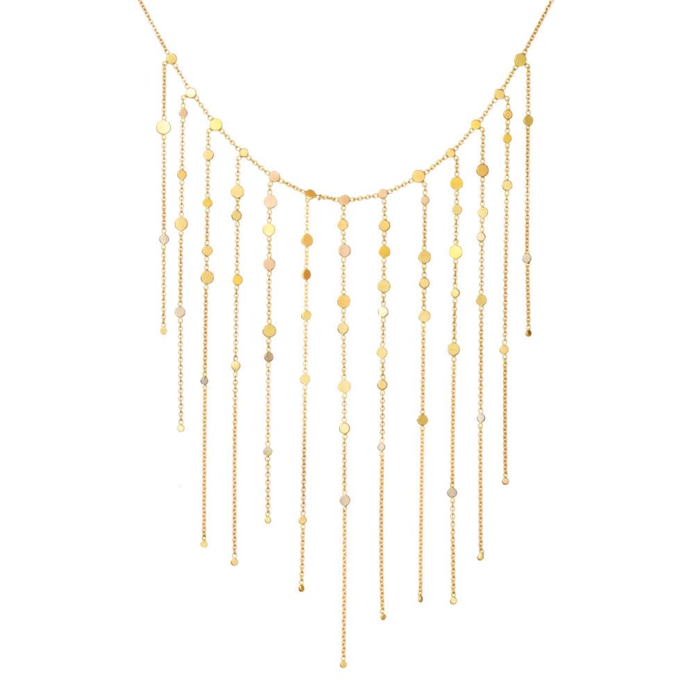 Sia Taylor SN1 RAIN Rainbow Gold Dust Drift Dust Necklace M