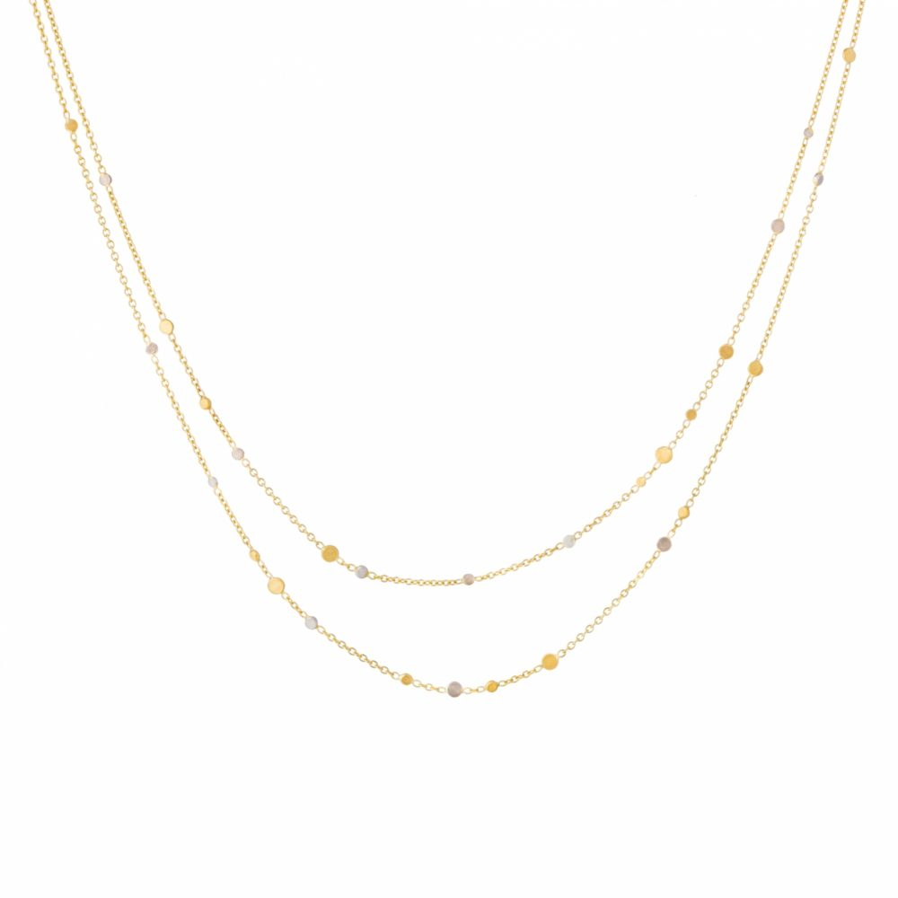 Sia Taylor SN5 YWP Gold Platinum Dust Necklace WB