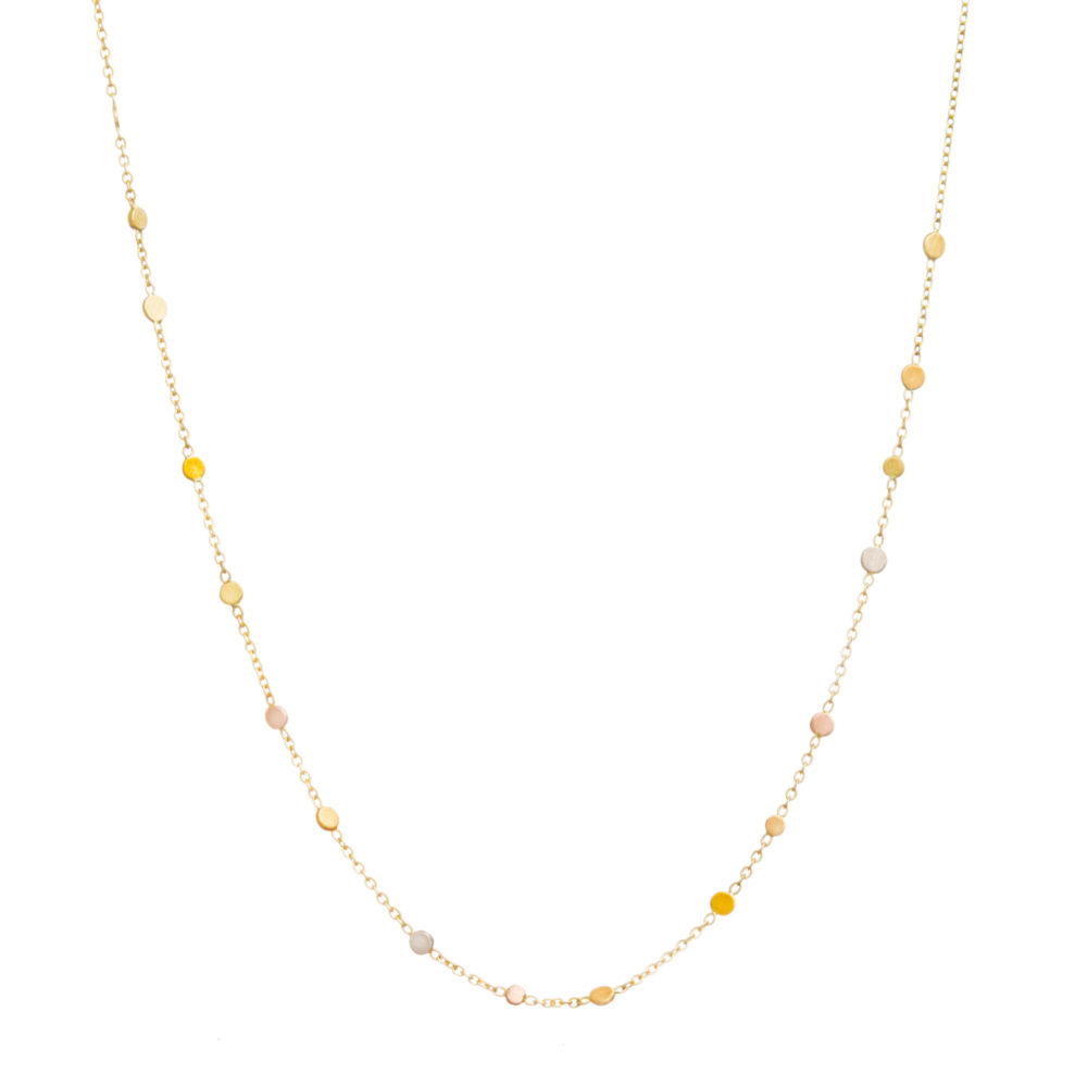 Sia Taylor SN6 RAIN Rainbow Gold Scattered Dust Necklace WB