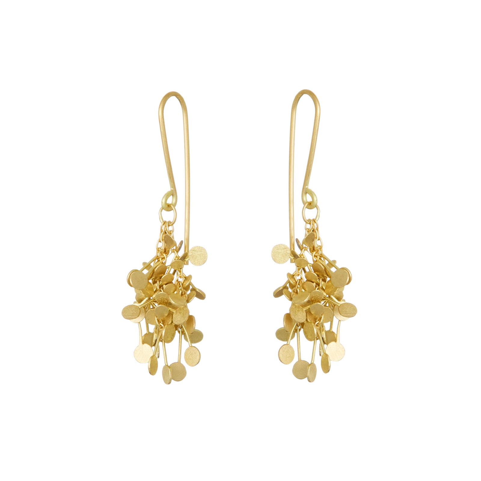 Sia Taylor BE14 Y Yellow Gold Dot Cluster Earrings WB