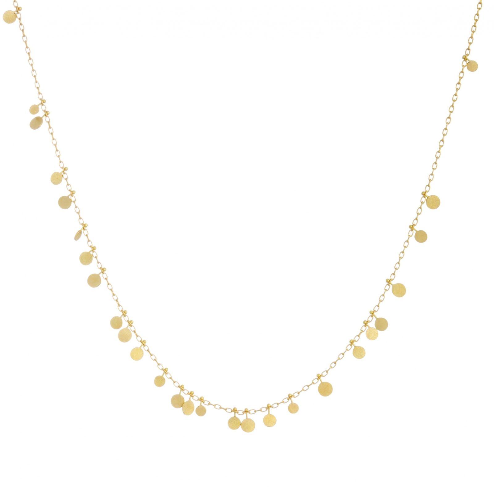 Sia Taylor DN31 Y Random Yellow Gold Dots Necklace WB