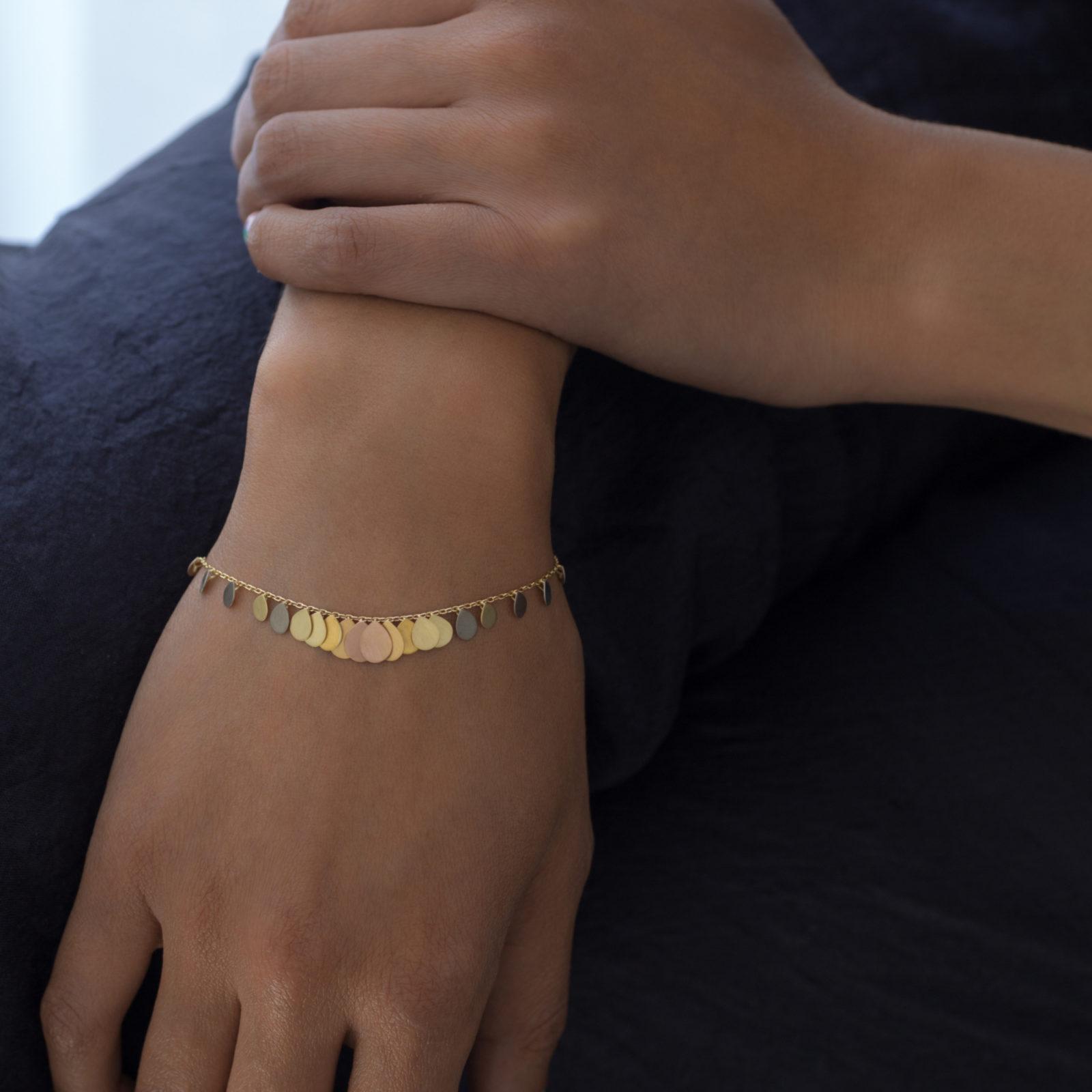 Sia Taylor FB2 RAIN Rainbow Gold Bracelet M