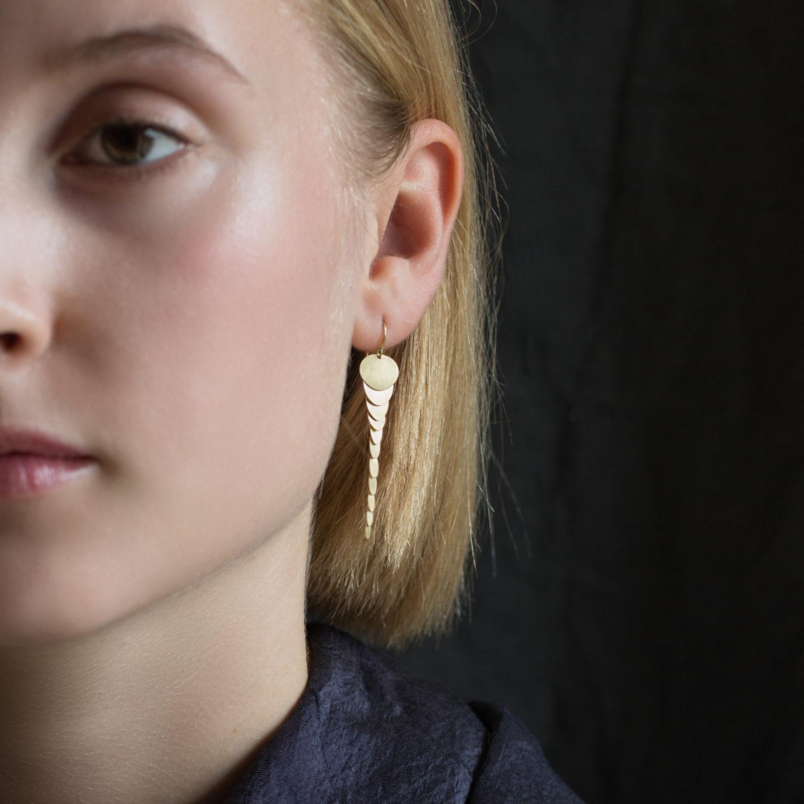 Sia Taylor FE2 Y Yellow Gold Earrings M
