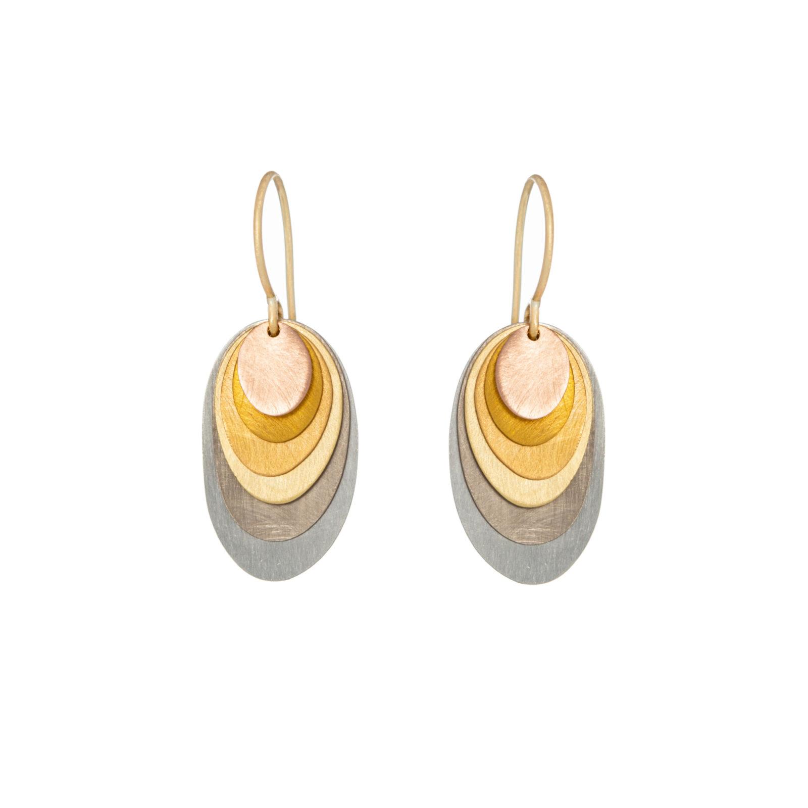 Sia Taylor FE5 RAIN Rainbow Gold Earrings WB