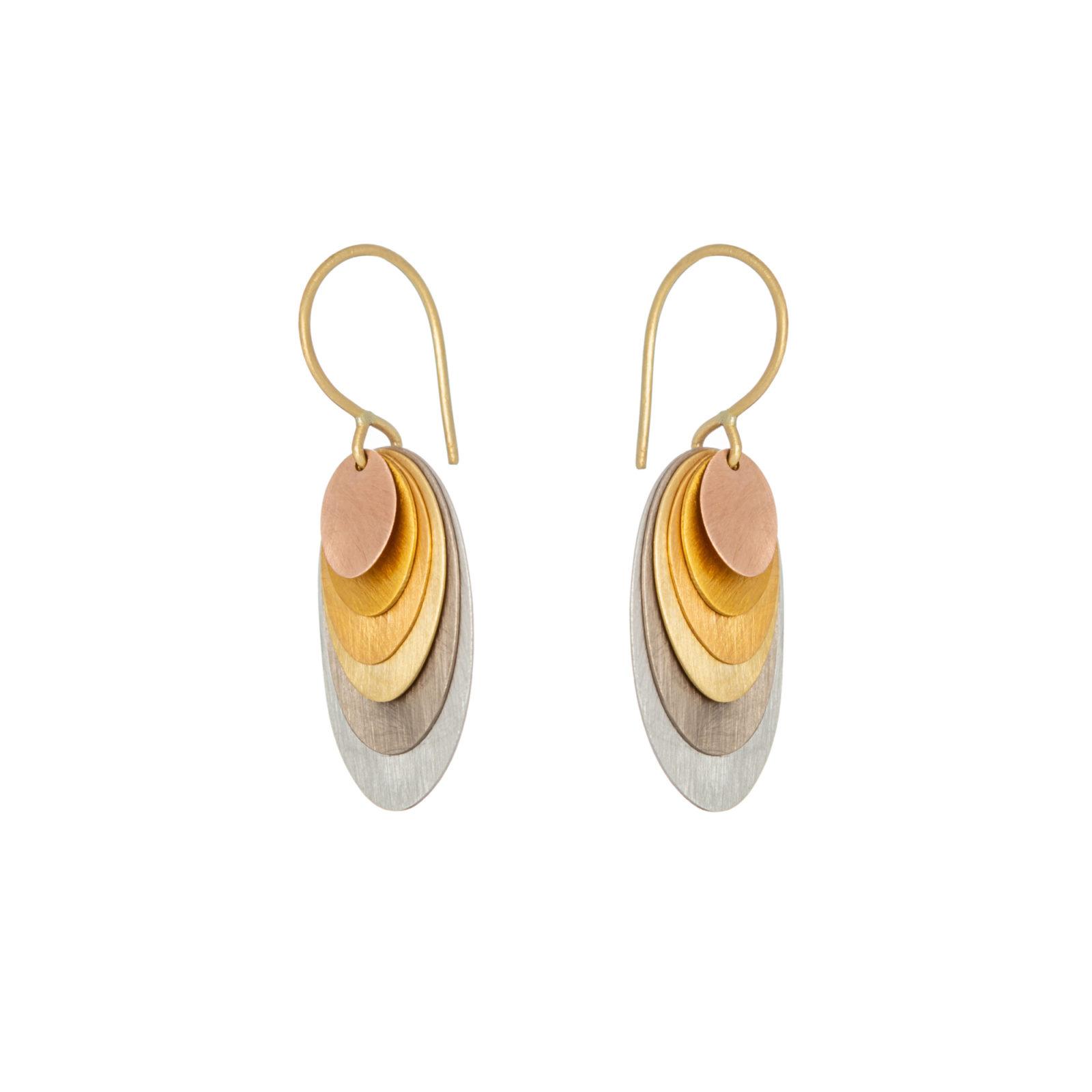 Sia Taylor FE5 RAIN Side Rainbow Gold Earrings WB