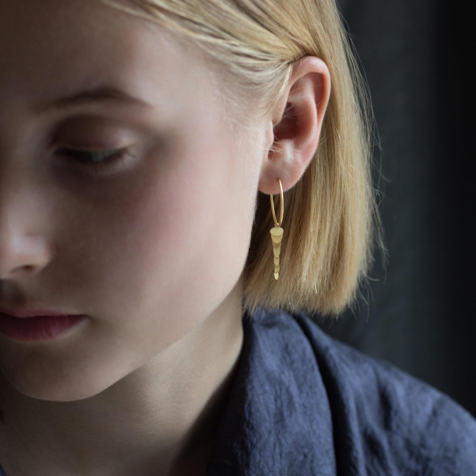Sia Taylor FE7 Y Yellow Gold Earrings M