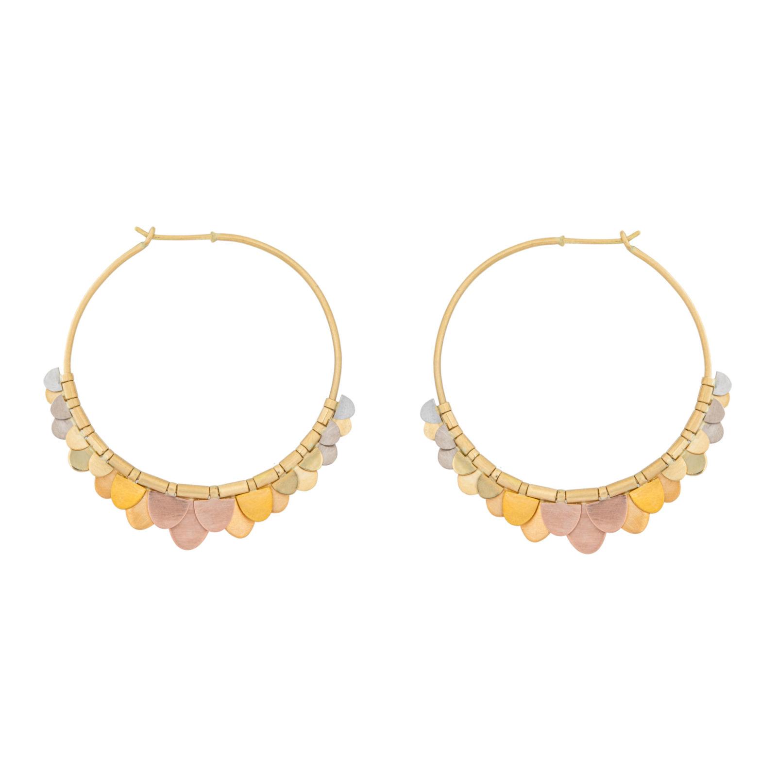 Sia Taylor FE8 RAIN Rainbow Gold Earrings WB