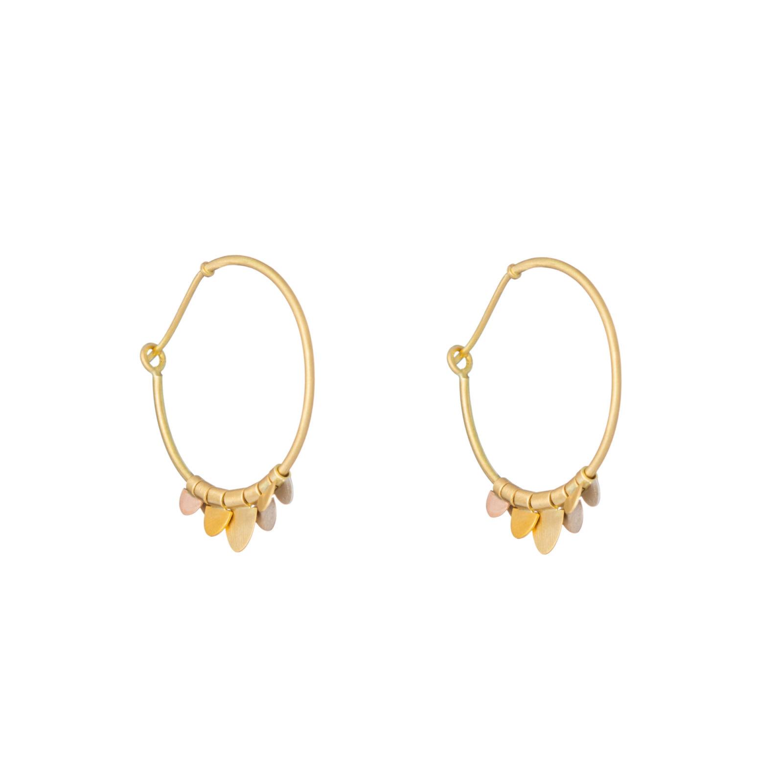 Sia Taylor FE9 RAIN Side Rainbow Gold Earrings WB