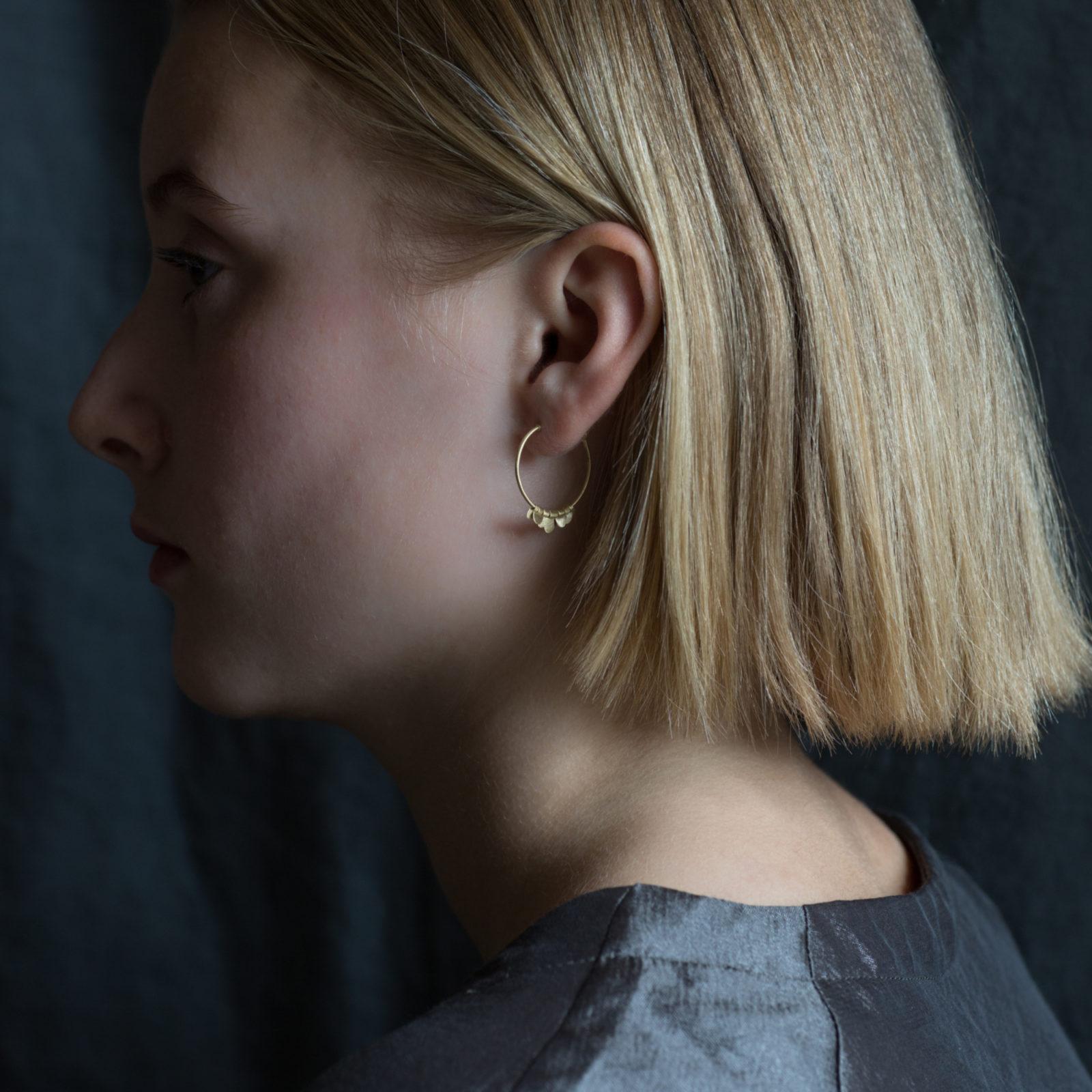 Sia Taylor FE9 Y Yellow Gold Earrings M