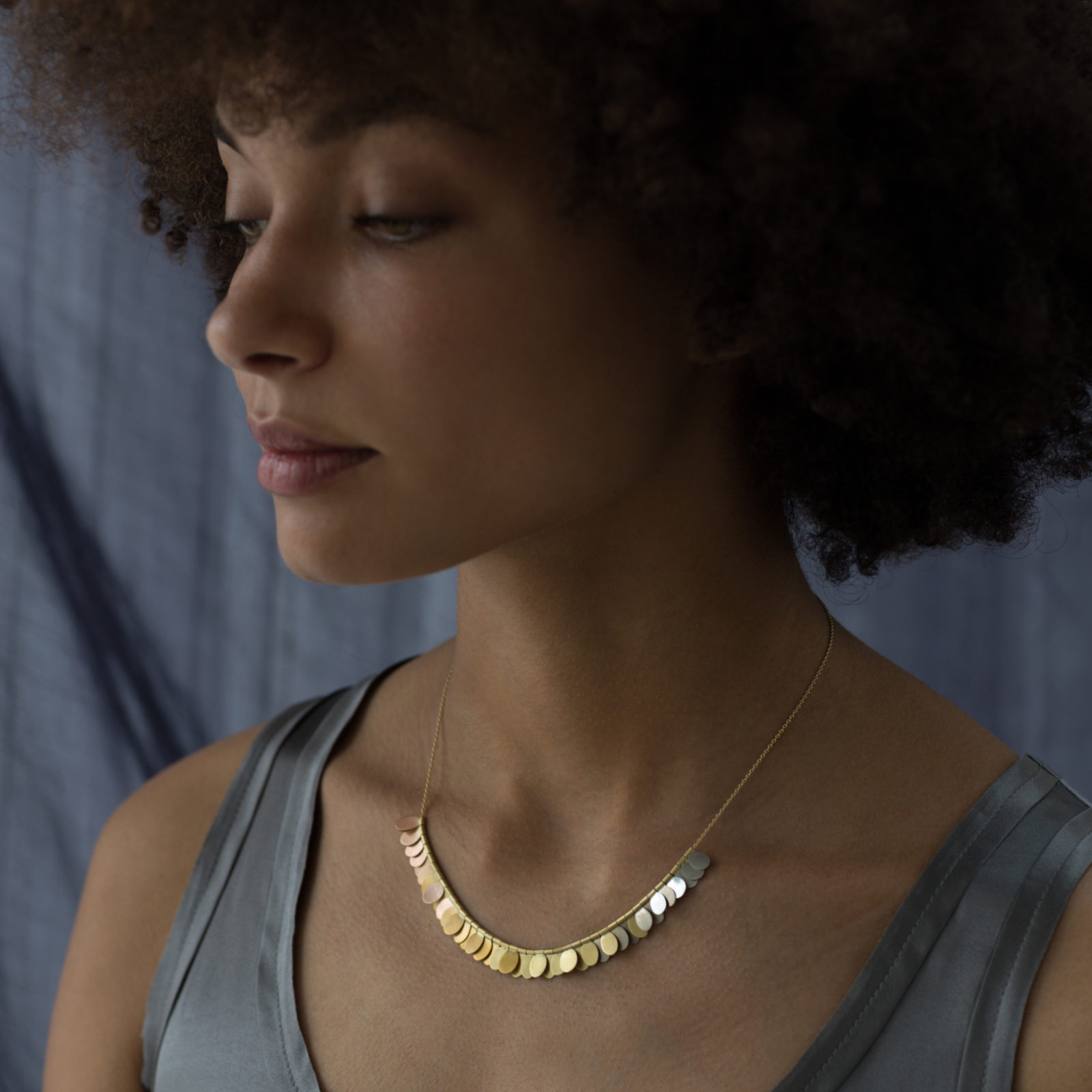 Sia Taylor FN1 YRAIN Rainbow Gold Necklace Back M