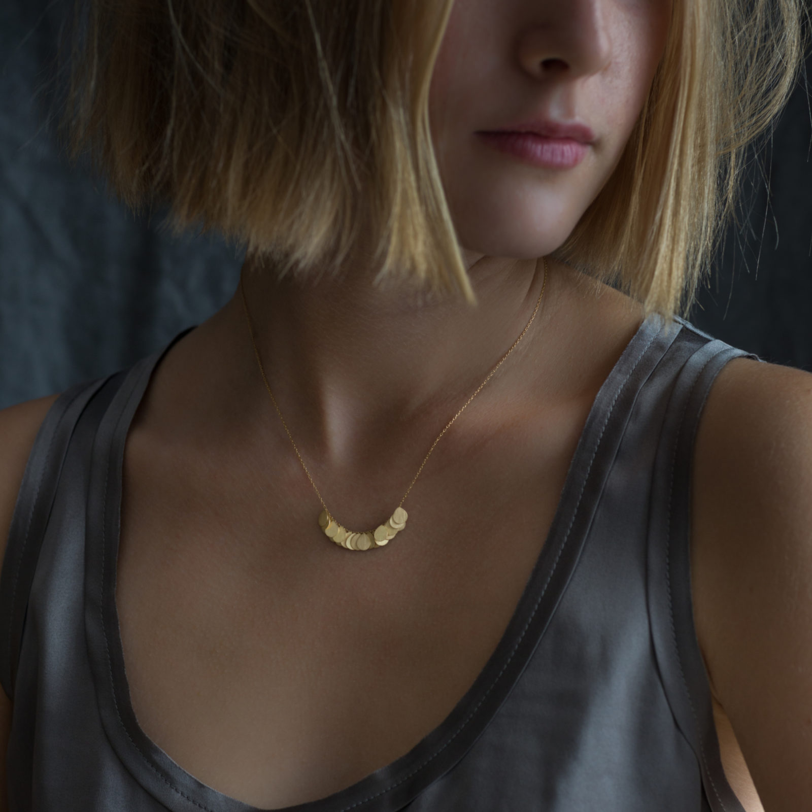 Sia Taylor FN3 Y Yellow Gold Necklace M
