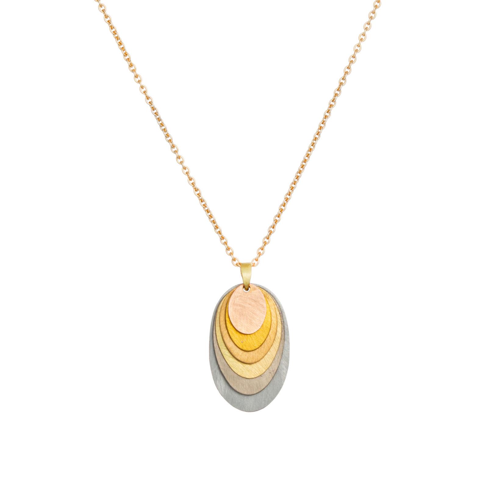 Sia Taylor FN7 RAIN Rainbow Gold Necklace WB