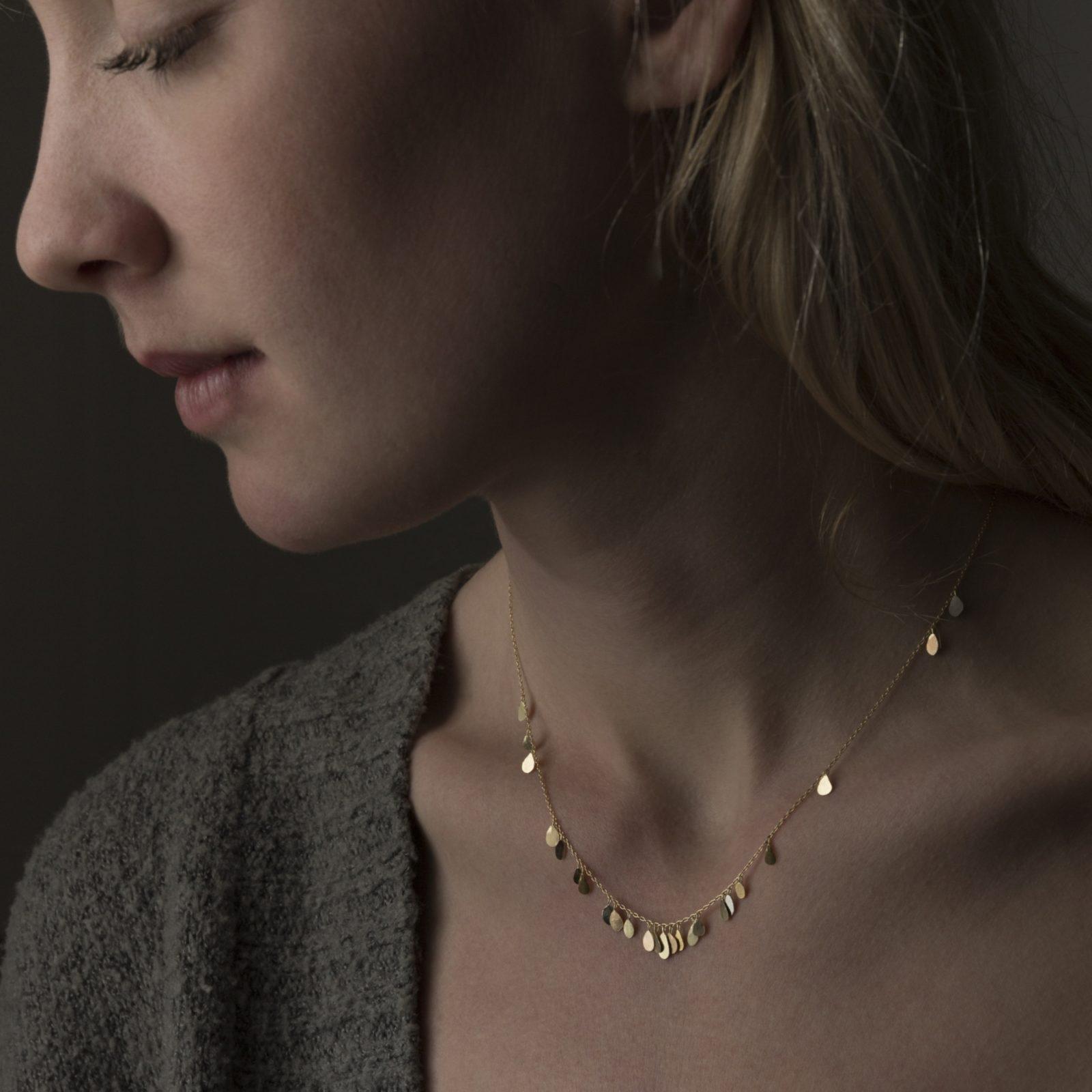 Sia Taylor TN5 YMIX Raindrop Gold Necklace M
