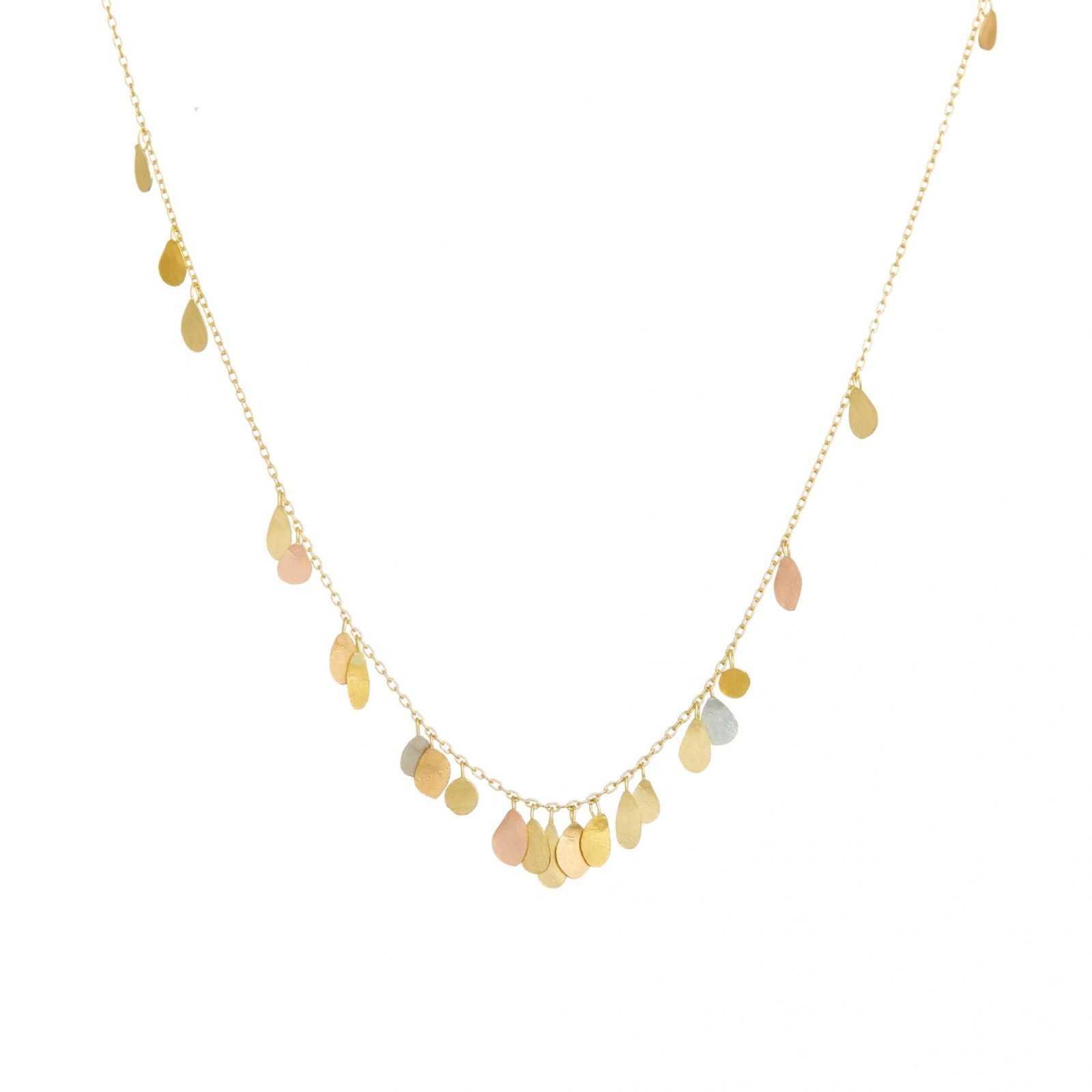 Sia Taylor TN5 YMIX Raindrop Gold Necklace WB