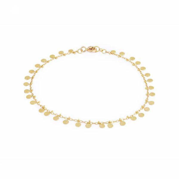 Sia Taylor DB301 Y Yellow Gold Evenly Dotted Bracelet WB