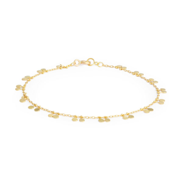 Sia Taylor DB6 Y Yellow Gold Tiny Double Dots Bracelet WB