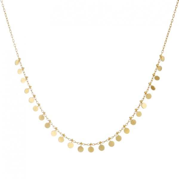 Sia Taylor DN11 Y Medium Yellow Gold Dots Necklace WB