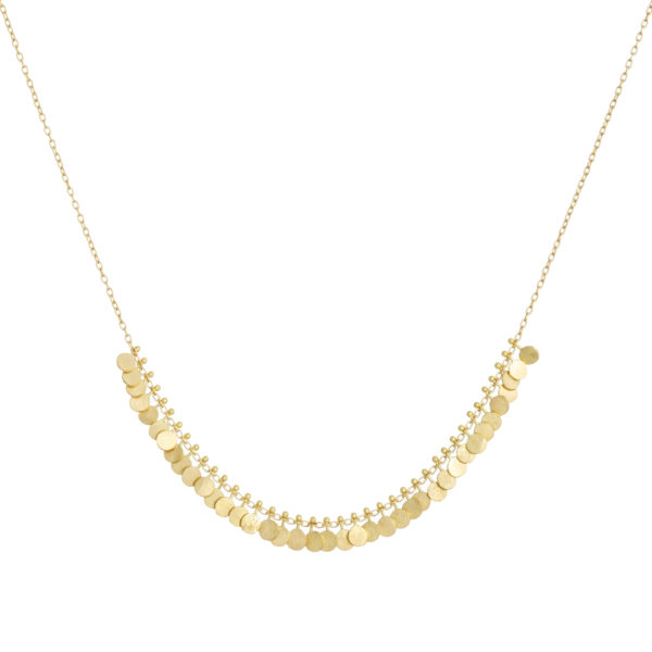 Sia Taylor DN2 Y Tiny Yellow Gold Dots Arc Necklace WB