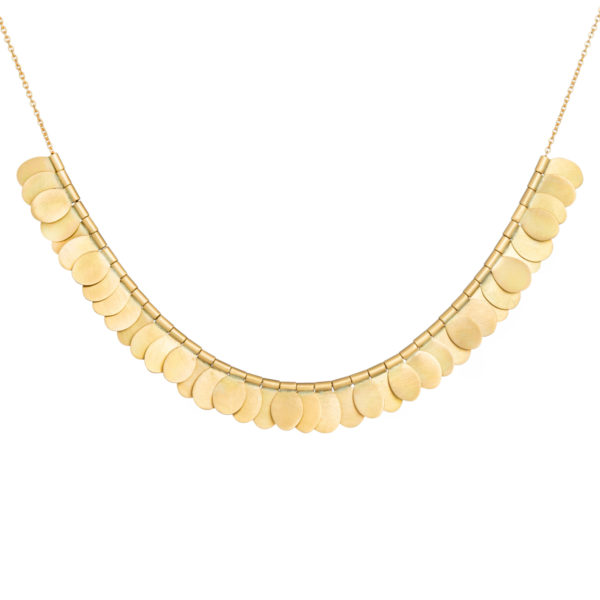Sia Taylor FN1 YRAIN Rainbow Gold Necklace Front WB