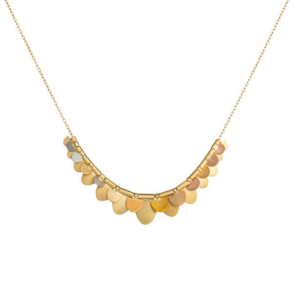 Sia Taylor FN5 RAIN Rainbow Gold Necklace WB