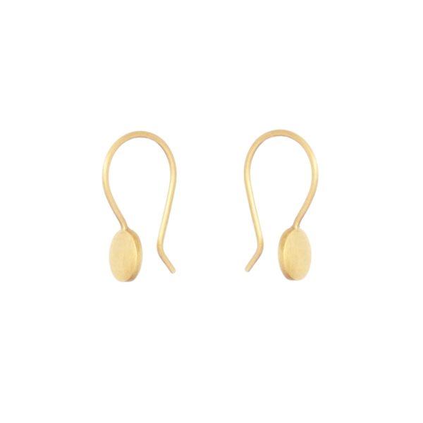 Sia Taylor KE16 Y Yellow Gold 5mm Moon Drop Earring WB