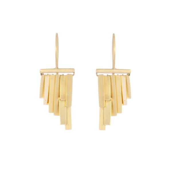 Sia Taylor KE33 Y Yellow Gold Tiny Rainfall Earrings W