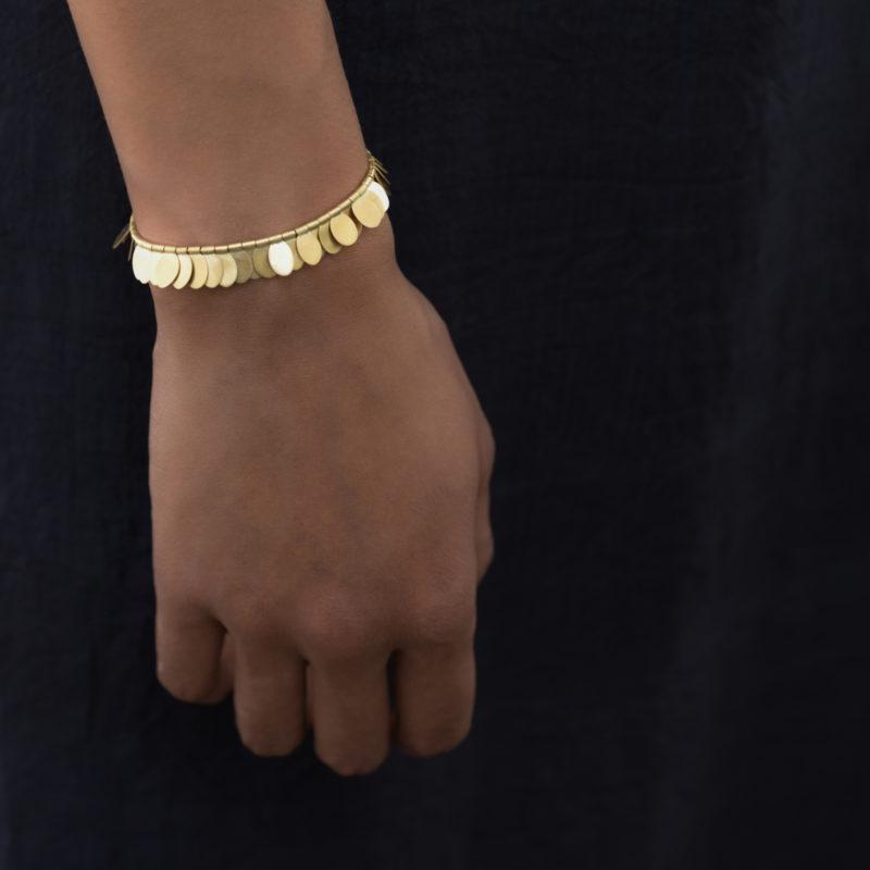 Sia Taylor FB1 YRAIN Rainbow Gold Bracelet Front M