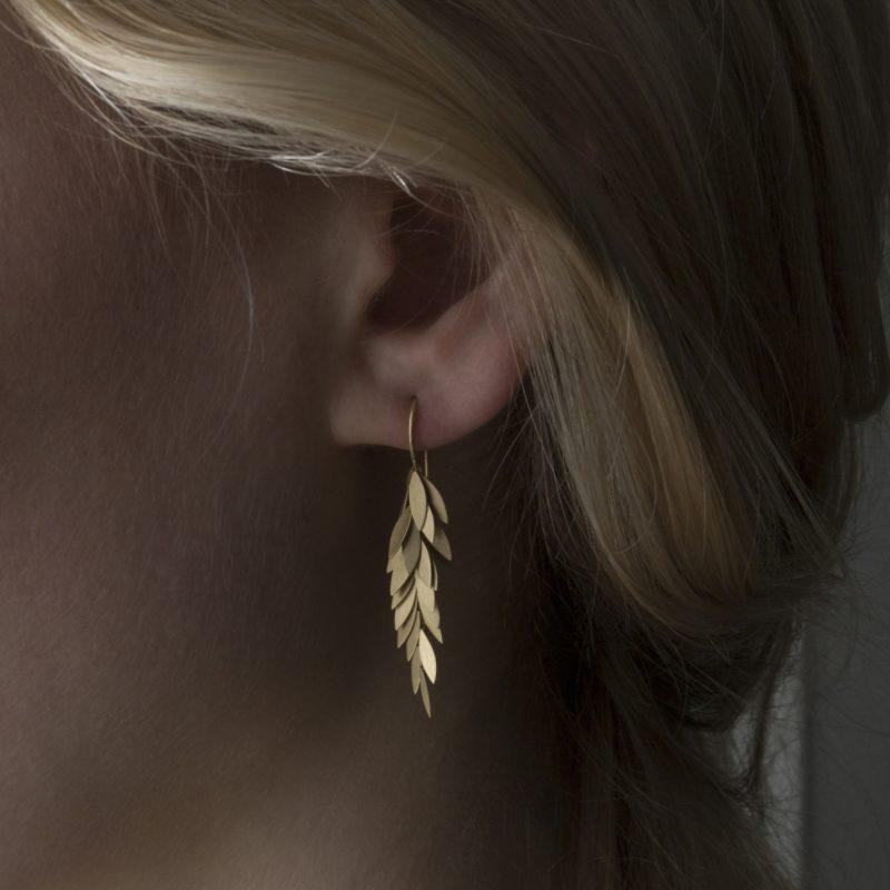 Sia Taylor KE24 Y Yellow Golden Leaf Earring M