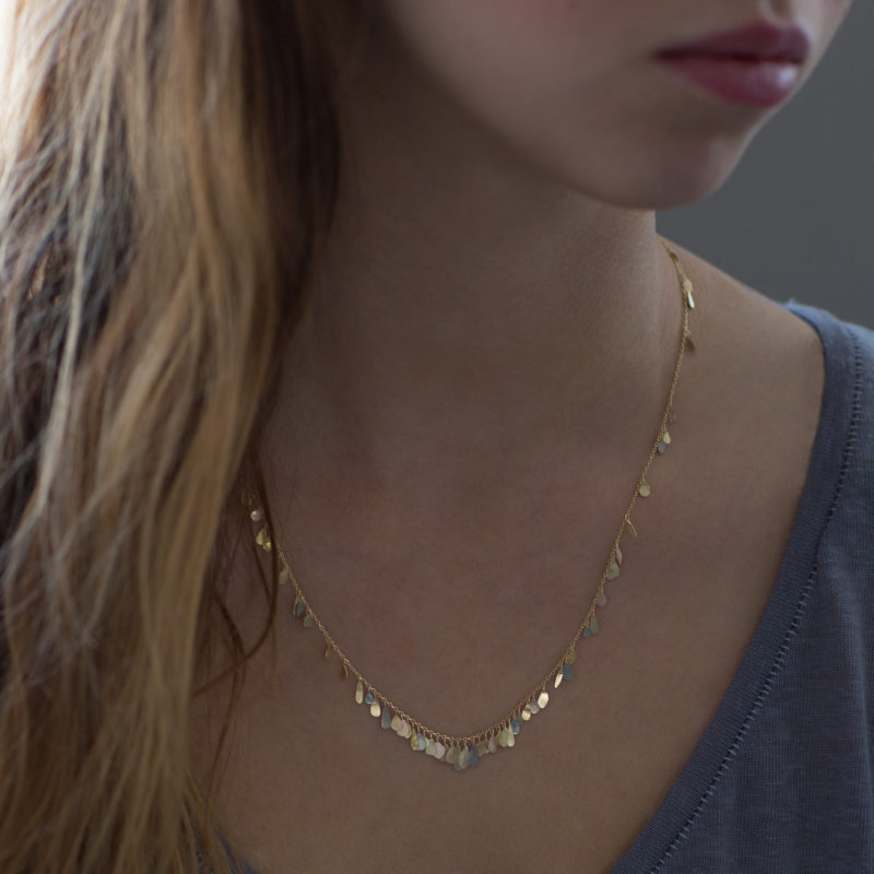 Sia Taylor TN1 YMIX Raindrop Gold Necklace M